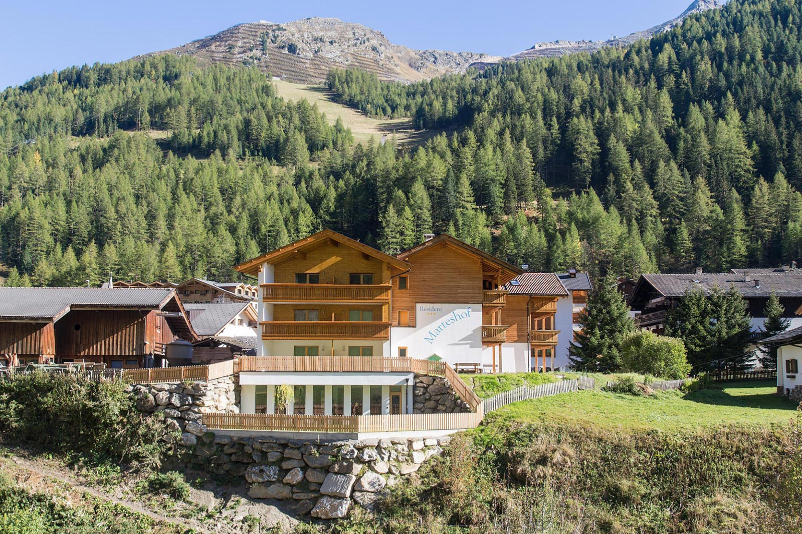 Residence Marteshof near Moso in South Tyrol